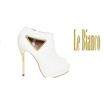 Ankle Boot Verniz Splendor Le Bianco 551peep Toe Verniz Top