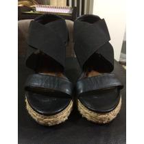 Sandalia Anabela Shoestock Preta Tam 37