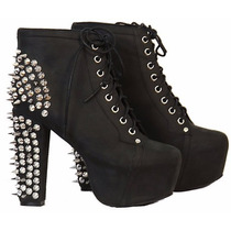 Bota Ankle Boot Jeffrey Campbell Inspired Studded Spikes