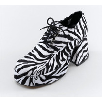 Zebra Shoes - 60s 70s Imprimir Mens Plataforma Uk 7-8 Novo T