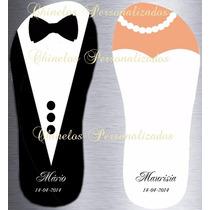 Kit 16 Pares De Chinelos Sandálias Personalizados Casamentos