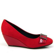 Sapato Feminino Anabela Beira Rio Salto Baixo 4775103