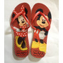 Chinelo Personalizado Havaianas Modelo Flat - Mickey Minnie