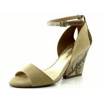 Sandália Glamm Trap Nude - Sapatos Mania
