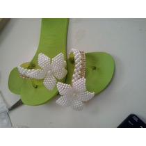 Chinelos Bordados (flor Pérola)