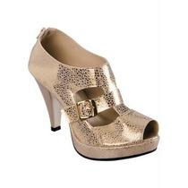 Open Boot Com Detalhe De Fivela (dourado)
