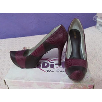 Sapato Couro De Cobra Violeta - Nº36