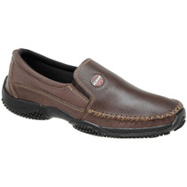 Sapato Mocassim Masculino Couro 100% Marrom Sapatilha 37/45
