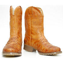 Bota Texana Escamada Country Western Hoper 100% Couro Ref901