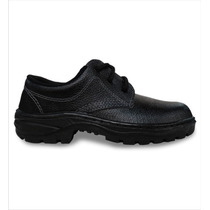 Botina Bota Sapato De Segurança Epi Pu Sem Bico Aço Cadarço