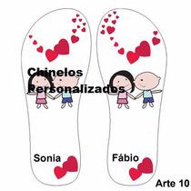 Chinelo Sandália Personalizados Dia Dos Namorados