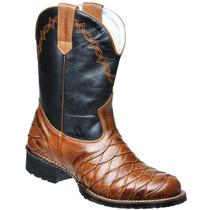 Bota Texana Country Luxo Em Couro Legítimo. Promoção !!!