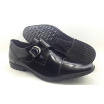 Calçados Masculinos Sapato Social Couro Legitimo De Fivela