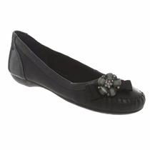 Sapatilha Dakota Feminina Flor Laço Couro Sapato Linda B2872