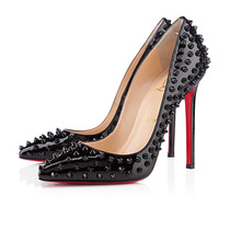 Sapato Christian Louboutin - Pigalle Spikes Patent - 12 Cm