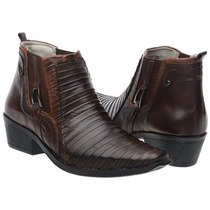 Bota Botina Couro Rodeo Country Dafiti Texas Montaria Tatu