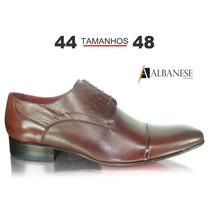 Sapato Social Marrom - Albanese - Tamanhos 44 45 46 47 48