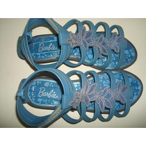 Sandália Barbie Glitterize Azul Nº 32/33 - Grendene.