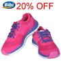 20%off Tênis Bibi Storm Menina 25-35 - Rosa Pink