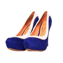 Sapato Scarpin Vizzano 1143318 - Azul/branco