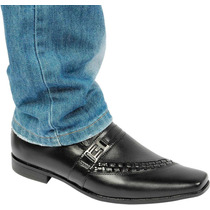 Sapato Masculino Social De Pelica Preto Conforto Macio Couro