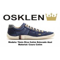 Sapatenis Osklen Feminino Riva Cetim Azul 100% Original
