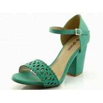 Sandália Glamm Lux Verde - Sapatos Mania