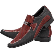 Sapato Social Masculino Luxo Couro Stilo Italiano Bico Fino