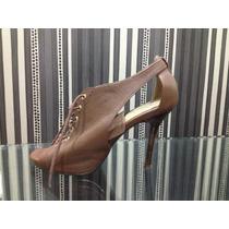 Sapato Peep Toe Mc Benett Marron - Número 35