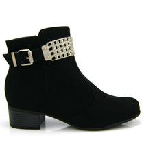 Bota Ankle Boot Vizzano 3045101 - Preta