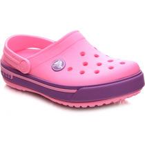 Crocs Feminina Crocband Pink E Roxa - Original