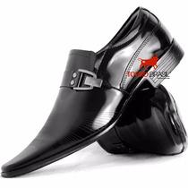 Sapato Social Masculino Couro Verniz Legítimo Exclusivo