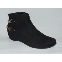 Bota Ankle Boot Vizzano Preta 3043.105