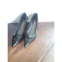 Sapato Social Scarpin Preto Salto Baixo Nº38