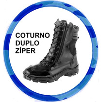 Coturno Para Militares Extra Forte Leve Ziper*12x S/ Juros**