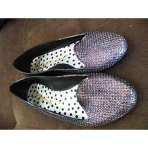 Sapatilha Sapato Feminino 36 Brilho Glitter