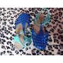 Sandalia Aranha Plastico Azul Duas Cores 33-34
