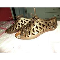 Sandalia Ouro Velho Gladiadora 35