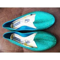 Sapatilha Sapato Feminino 34 Brilho Glitter Verde