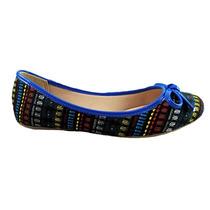 Sapatilha Sua Cia Tecido Rústico Africano Azul - Cod: Sc28