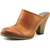 Mia Carmesim Do Falso Couro Mulas Shoes