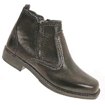Bota Estilo Sapato Couro Legitimo Solado Costurado Numero 35