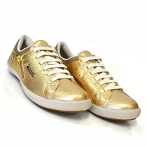Tênis Feminino Dakota Kolosh C0102b F4 Couro Dourado