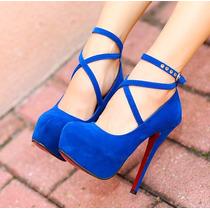 Sapato Feminino Pronta Entrega Confortável Salto Scarpin