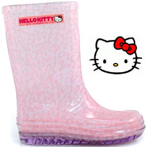 20% Bota Galocha Hello Kitty Chuva 21144 - Lilás/rosa