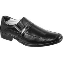 Sapato Social Conforto Antistress Pelica Couro De Cabra 011