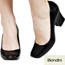 Sapato Scarpin Biondini Boneca Couro Legítimo Nº 37 38