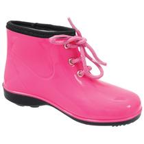 Galocha Infantil Cano Baixo Baby Cadarço Pink Rosa 990577