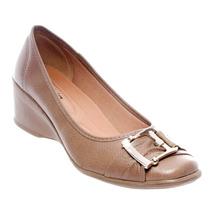 Sapato Salto Anabela Fivela Azaléia Feminino Confortável