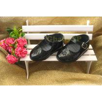 Sapato Sapatinho Social Infantil Menina Bebê - Preto Mod.01